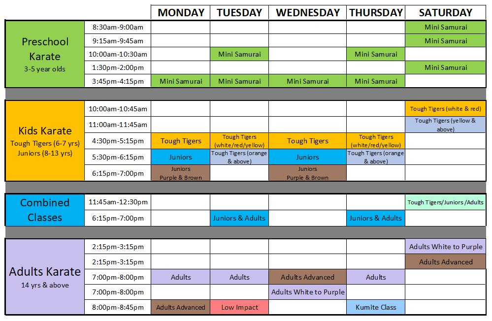 timetable - 2021